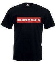 T-shirt Maglietta J2024 I Love My Cats Gatto Amore Animali