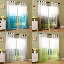 Vorhang transparent Schal Ösen Gardine Voile Farbverlauf -204202-