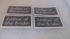 Père et mère de la mariée marié stencil mix pour gravure verre mariage faveur