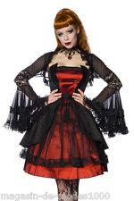 Kostüm  Gothic  Kleid Dress Burlesque-Kostüm Halloween Fasching Karneval