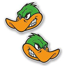 2 x 10cm Angry Duck Vinyl Sticker Decal Helmet Laptop Car Motorbike Bird #6661