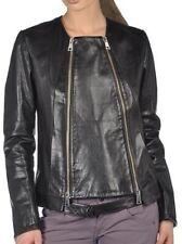 Women Leather Jacket Soft Solid Lambskin New Handmade Motorcycle Biker S M # 68