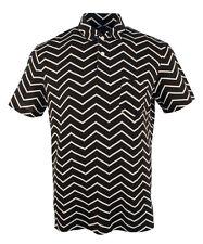 Polo Ralph Lauren St Barth Zig Zag Resort Polo Shirt Black