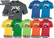 Lumipix 206 Peugeot Mens Car T-Shirt, Great Gift!