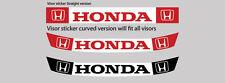 Adesivo Per Visiera Casco Honda F1 Jenson tutti i team honda Unità 1
