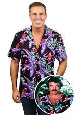 Original Tom Selleck Magnum,P.I. Hawaiihemd Shirt black made in Hawaii -limited-