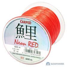 (0,025€/m) 600m CARPEX NEON RED, ANGELSCHNUR, KARPFENSCHNUR METHOD FEEDERSCHNUR