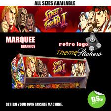 Street Fighter 2 V5 Arcade ilustraciones marquesina Pegatinas Gráfico/Laminado