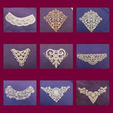 Gorgeous Venise lace Applique Assortment Guipure trim Ivory White,Pink Venice