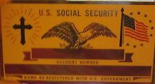 Metal Social Security ID Card Christian God Jesus Religous Cross Custom Engraved