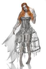 Sexy costume donna SPOSA ZOMBIE taglia S, M, L travestimento Halloween feste