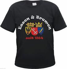 ESSEN & BREMEN seit 1984 T-Shirt - schwarz - S bis 3XL - ultras fan freundschaft