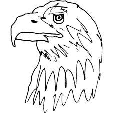 'Golden Eagle' Rubber Stamp (RS016344)