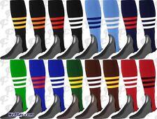 TCK 3-Stripe Stirrups Baseball Softball Twin City Stirrup Socks, Choose Color