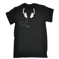 Cable de los auriculares alrededor del cuello camiseta para hombre Camiseta Cumpleaños Retro 80s Clásico Geek