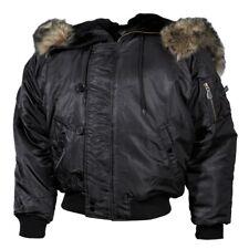 MFH Giacca Giubbotto Bomber uomo militare Polar Jacket N2B black 03702A