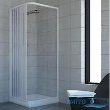 SHOWER ENCLOSURE PLASTIC PVC SIDE OPENING WALK IN QUADRANT CUBICLE FOLDING DOORS
