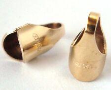 20pc 2.5mm gold filled round leather cord endcap end cap  thread crimp tube GF23