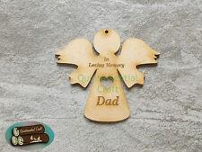 MDF Wood Memorial Angel In loving memory Hanging Decoration Mum,Dad,Nan,Grandad