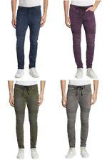 Men's DIESEL BAKARI NE Blue Green Grey Purple Moto Slim Jogg Sweat Jeans Pants