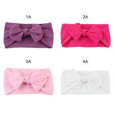4pc Kids Girl Baby Cute Turban Solid Headband Hair Band Bow Accessories Headwear
