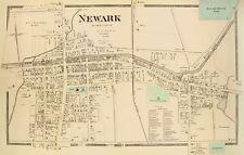 Old City Map - Newark City New York Landowner - Beers 1874 - 23 x 36.11