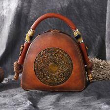 2018 Luxury Women Genuine Leather Handbags Bags Retro Vintage Designer Crossbody
