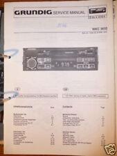 Service Manual Grundig WKC 3632 Autoradio,ORIGINAL