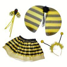 BUMBLE BEE LADYBIRD FAIRY WINGS WAND HEAD BOPPERS TUTU SET COSTUME GIRLS KIDS