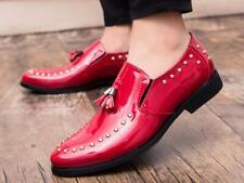 vogue Mens Round Toe Slip On  Rivet Tassels casual nightclub dress Shoes