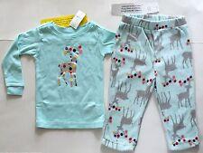 Baby GAP Blue Microfleece 2 pc Pajama PJ Set Deer Top Pants 12 18 24 mo NWT $30