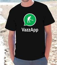 "T-SHIRT MAGLIETTA  S - M - L - XL  ""VAZZAPP"" FUNNY WHATSAPP IPHONE UOMO DONNA"