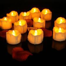 Led Tea Light Flameless Battery Candles Fake Tealights Home Wedding Decor 12pcs
