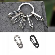 Pair Tool Clip Keyring Spring Buckle Split Ring Stainless Steel Carabiner