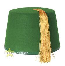 Green Fez Kuki Hat adultes Marocain Turkish Emerald Tassel accessoire robe fantaisie