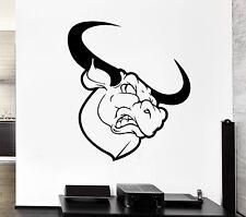Wall Decal Bull Animal Horns Buffalo Rage Rodeo Corrida Vinyl Stickers (ed173)