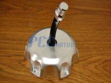 SILVER CNC BILLET FUEL GAS CAP YAMAHA YZ250 YZ125 YZ 250 125 2002-2010 H GC12