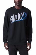 Fox Racing Detractor Crew Fleece Mens Black Sweatshirt Sweater New NWT