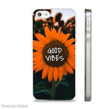 SUNFLOWER GOOD VIBES NATURE CASE FITS IPHONE 4 4S 5 5S 5C 6 6S 7 8 SE PLUS X