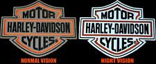 HARLEY DAVIDSON REFLECTIVE NIGHT VISION  B&S (XXL) PATCH