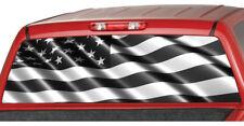 AMERICAN FLAG Banner  B/W Rear Window Graphic Decal Tint Sticker Truck suv ute