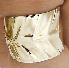 WRAP AROUND LEAF GOLD BRASS BRONZE RING