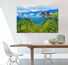 3D Green Mountain Sky 3 Wall Stickers Vinyl Murals Wall Print Decal Art AJ STORE