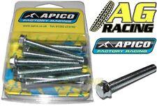Apico 8mm Hex Head Flange Bolt M6x45mm 10 Pack Motocross Enduro Carbon Steel New