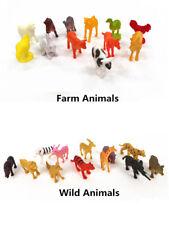 Plastic Animal Figurines Play Set Farm Animal Wild Animals Toys Action Figures