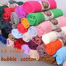 Muslim langen weichen Hijab Maxi islamischen Schal Scarf Kopftuch 85 Farbe 190cm