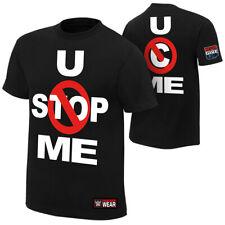 "Official WWE - John Cena ""U Can't Stop Me"" Black Authentic T-Shirt"