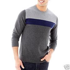 Men's Claiborne Colorblock Cotton-Cashmere Sweater Size S, XXL NEW