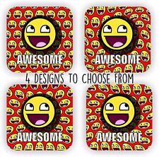 Awesome Face Epic LOL Emoticon Internet meme - drink coaster, gift set coaster