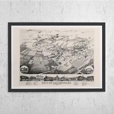 VINTAGE LOS ANGELES Map Print - Antique Wall Art - Vintage Map of L.A., Los Ange